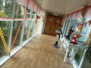Decorated corridor