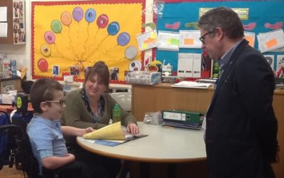 MP visits School